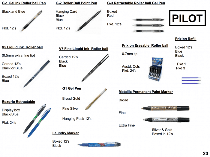 Pilot Pens supplier Bristol