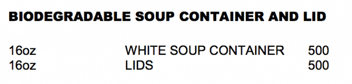 Biodegradable Soup Container Product list