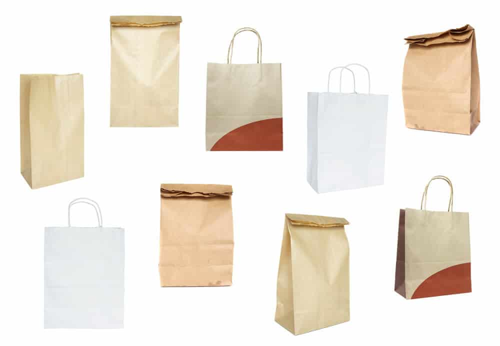 Takeaway bags / carriers (100% recycled)