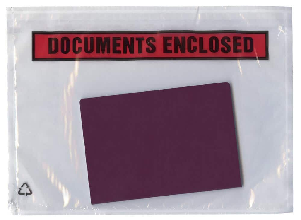 Document enclosed pouches