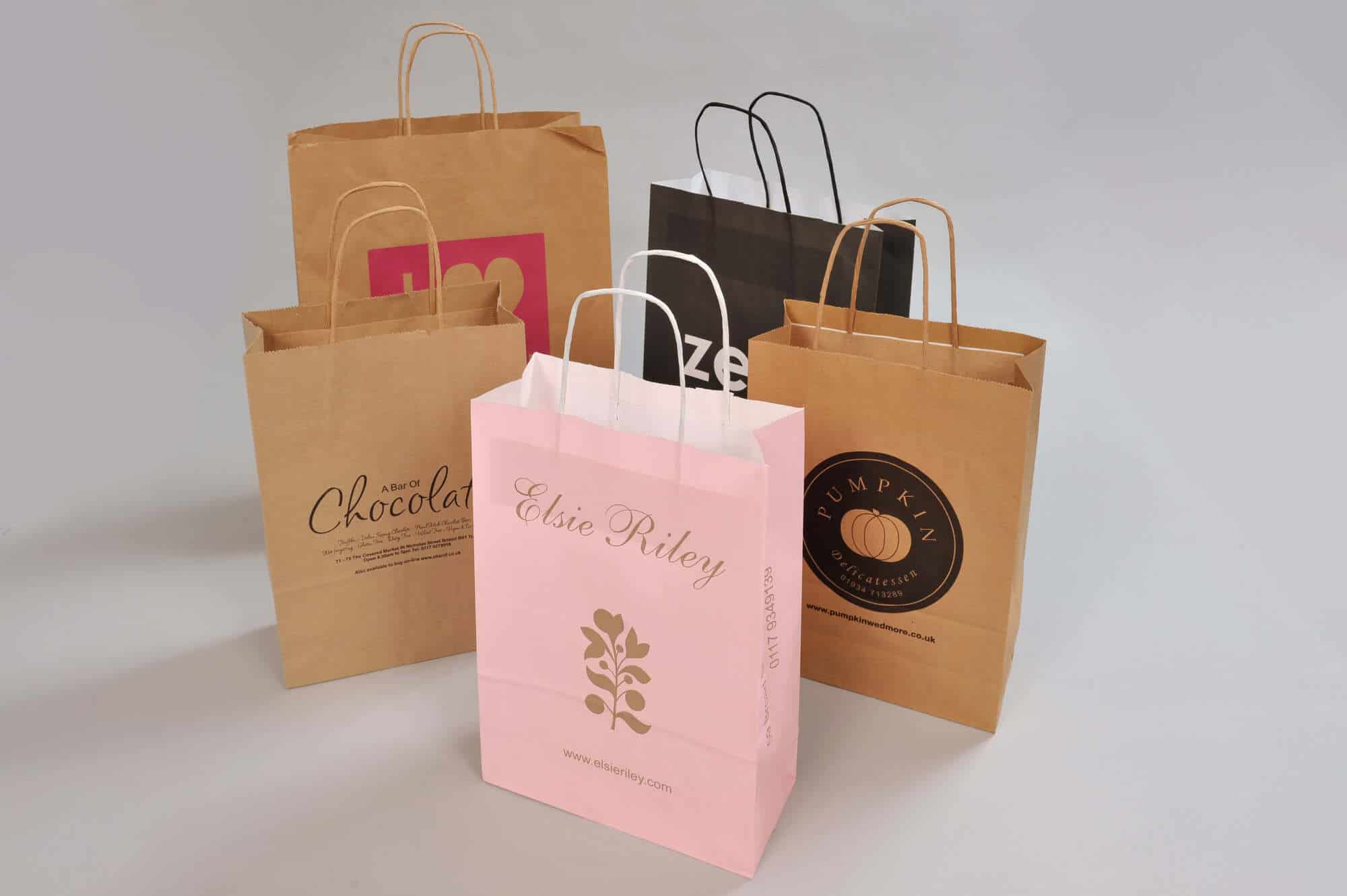 Twisted handled bags