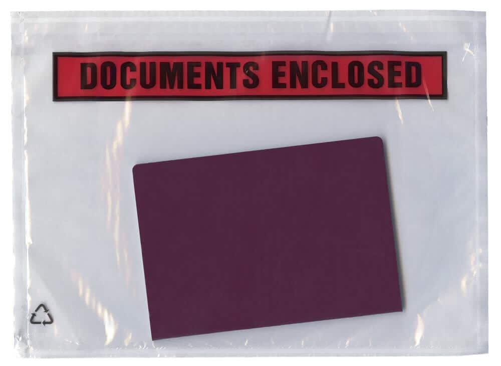 Document enclosed pouches